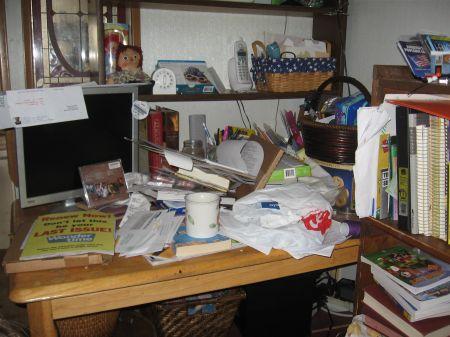 day 15 messy desk