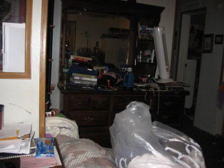 dresser in the living room