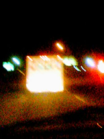View of Ambulance from my windshield